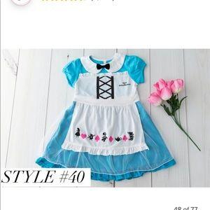 Alice in wonderland play dress girls 4t New